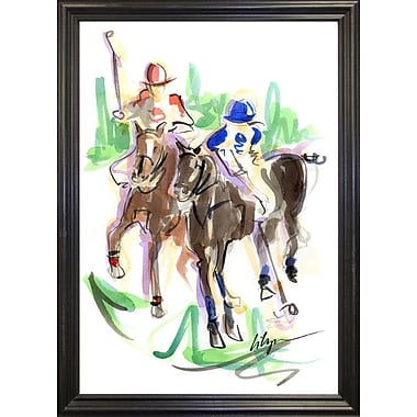 East Urban Home 'Polo Playin' Print; Rolled Canvas