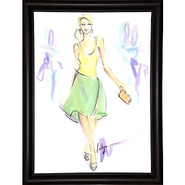 East Urban Home 'Fresh as a Daisy' Print; Bistro Expresso Framed Paper