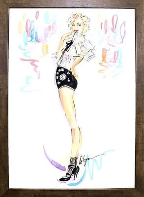 East Urban Home 'Cheeky Marilyn' Print; Cafe Mocha Framed Paper