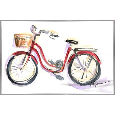 East Urban Home 'Go for a Ride' Print; White Metal Framed Paper