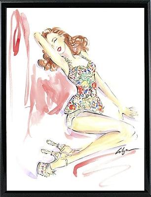 East Urban Home 'Marilyn Monroe Shoes' Print; Black Metal Framed Paper
