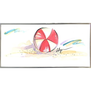 East Urban Home 'Beach Ball' Print; Silver Metal Framed Paper