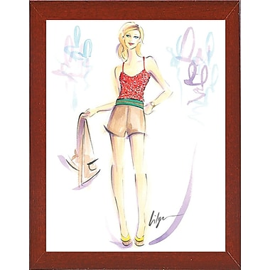East Urban Home 'Get a Tan' Print; Red Mahogany Wood Medium Framed Paper