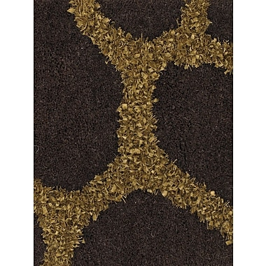 Mercer41 Jacques Brown/Gold Rug; 7'9'' x 10'6''