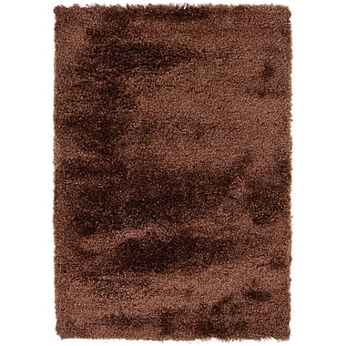 Latitude Run Shaylene Textured Contemporary Brown Area Rug; 9' x 13'