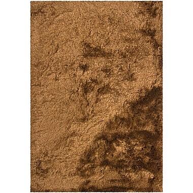 Latitude Run Levy Dark Brown/Tan Area Rug; 5' x 7'6''