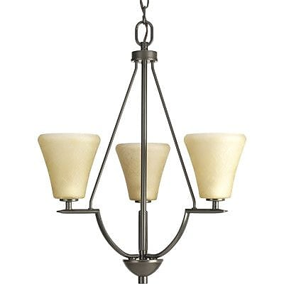 Fleur De Lis Living Karla Modern 3-Light Shaded Chandelier; Antique Bronze