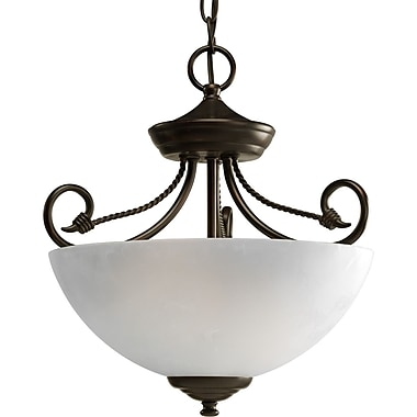 Fleur De Lis Living Adrienne Semi Flush; Antique Bronze