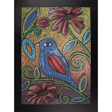Winston Porter 'Blue Bird' Print; Wrapped Canvas