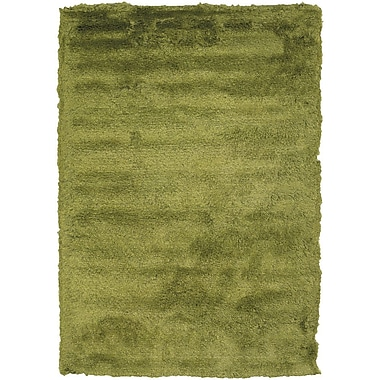 Latitude Run Shaylene Textured Contemporary Green Area Rug; 9' x 13'