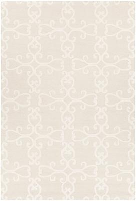 One Allium Way Ruggiero Hand-Tufted Beige/Cream Area Rug; 5' x 7'6''