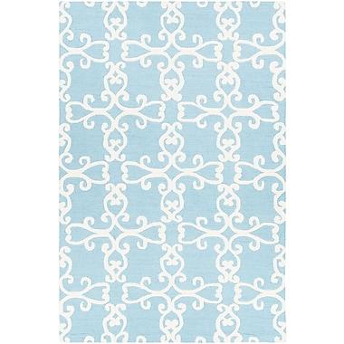 One Allium Way Ruggiero Hand-Tufted Blue/Cream Area Rug; 7'9'' x 10'6''