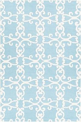 One Allium Way Ruggiero Hand-Tufted Blue/Cream Area Rug; 5' x 7'6''