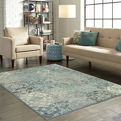 Ophelia & Co. Marshawn Teal Area Rug; 5' x 7'