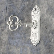 Ophelia & Co. Shamal Cast Iron Key Wall Hook; White