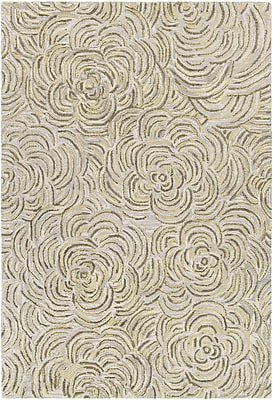 Rosdorf Park Norah Hand-Tufted Green/Gray Area Rug; 7'9'' x 10'6''