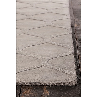 Rosdorf Park Raya Hand-Tufted Gray Area Rug; 5' x 8'