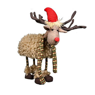 The Holiday Aisle Bouncy Rudolph Stuffed Holiday Accent