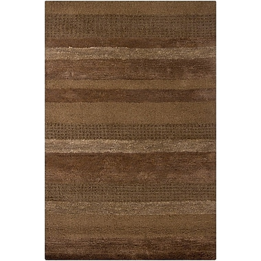 17 Stories Kha Wool Rug; Rectangle 5' x 7'6''