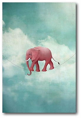 Ebern Designs 'Walking on a Thin Line' Graphic Art Print on Wrapped Canvas
