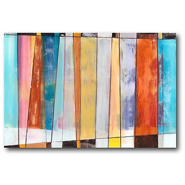 Ebern Designs 'Rhythm and Hues II' Graphic Art Print on Wrapped Canvas