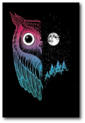 Ebern Designs 'Night Owl' Graphic Art Print on Wrapped Canvas