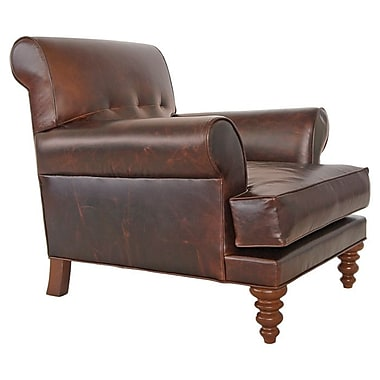 Hip Vintage Lenox Leather Armchair