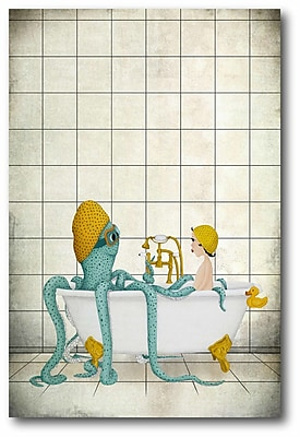 East Urban Home 'Bath Time' Graphic Art Print on Wrapped Canvas