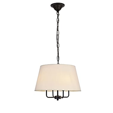 Gracie Oaks Stockton 4-Light Drum Pendant; Black
