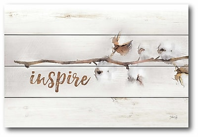 Gracie Oaks 'Inspire' Textual Art Print on Wrapped Canvas