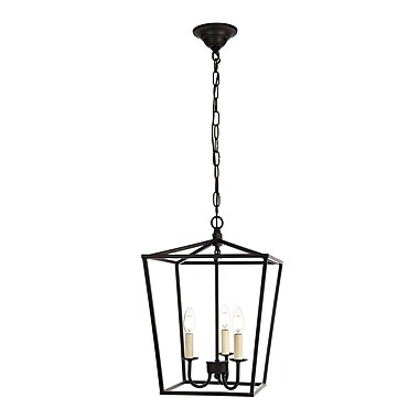 Gracie Oaks Sennett 3-Light Foyer Pendant; Black