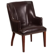 Red Barrel Studio Deontaye Leather Guest Chair; Brown