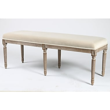 Blink Home Lafontaine Upholstered Bench; White