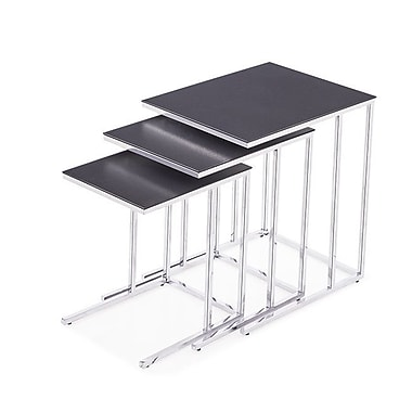 Blink Home Midtown 3 Piece Nesting Tables; Charcoal