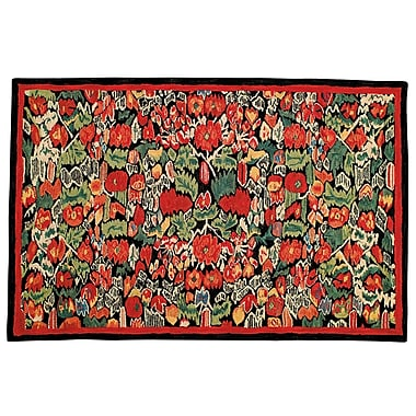 Bloomsbury Market Wessex Hand Tufted Wool Red Area Rug; Rectangle 4' x 6'