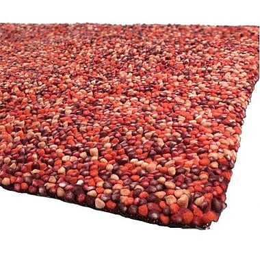 Bloomsbury Market Cassye Red/Orange Area Rug; Round 7'9''