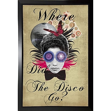 East Urban Home 'Where Did The Disco Go' Framed Graphic Art Print; Black Plastic Framed Paper