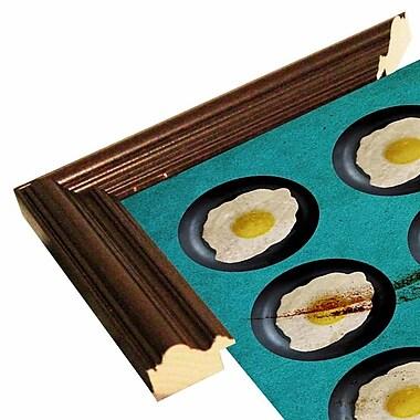 East Urban Home 'One Egg A Day' Framed Print; Cherry Wood Grande Framed Paper