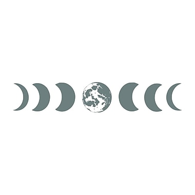 Decal House Moon Phases Wall Decal; Gray