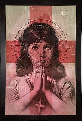 East Urban Home 'The Christian Girl' Framed Print; Black Wood Medium Framed Paper