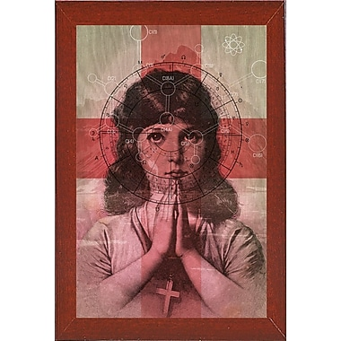 East Urban Home 'The Christian Girl' Framed Print; Red Mahogany Wood Medium Framed Paper