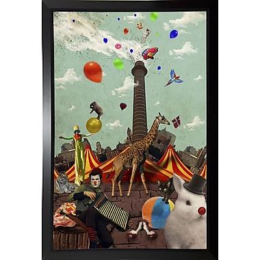 East Urban Home 'Circus' Framed Graphic Art Print; Black Plastic Framed Paper