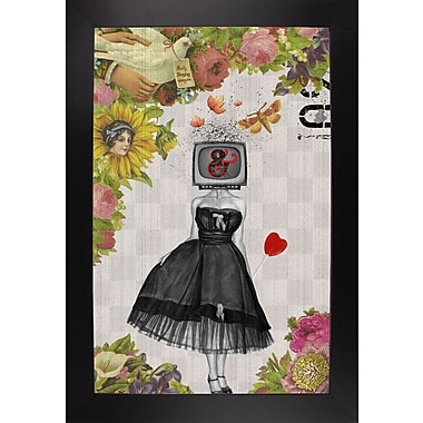 East Urban Home 'Candy Girl' Framed Graphic Art Print; Black Wood Large Framed Paper