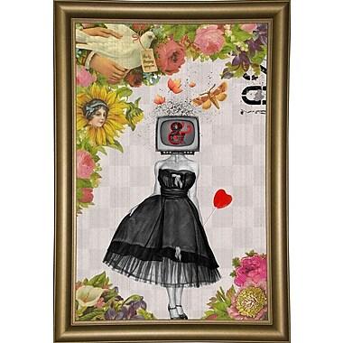 East Urban Home 'Candy Girl' Framed Graphic Art Print; Bistro Gold Framed Paper