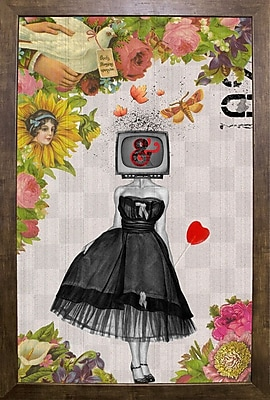 East Urban Home 'Candy Girl' Framed Graphic Art Print; Cafe Mocha Framed Paper