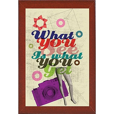 East Urban Home 'What You See Is What You Get' Framed Graphic Art Print