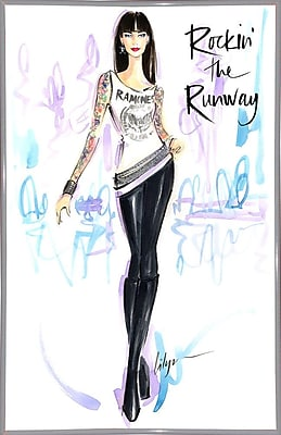 East Urban Home 'Rockin the Runway' Print; White Metal Framed Paper