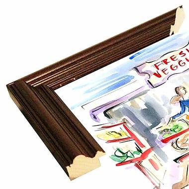 East Urban Home 'Eat Your Veggies' Print; Cherry Wood Grande Framed Paper