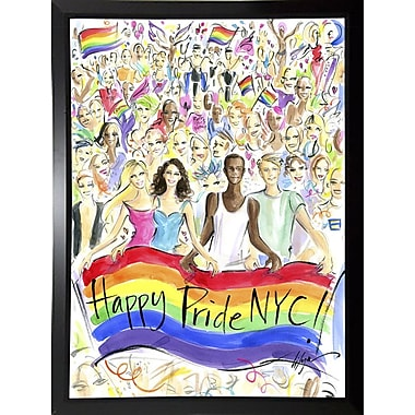 East Urban Home 'Happy Pride NYC!' Print; Black Plastic Framed Paper