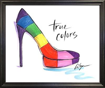 East Urban Home 'True Colors' Print; Black Wood Grande Framed Paper